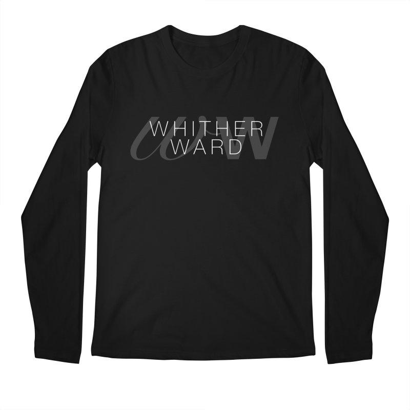 WW + Words (white) Men's Regular Longsleeve T-Shirt by whitherward's Artist Shop