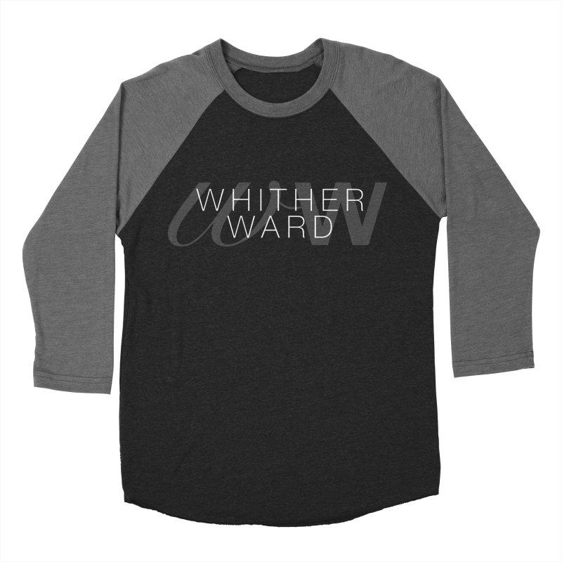 WW + Words (white) Men's Baseball Triblend Longsleeve T-Shirt by whitherward's Artist Shop