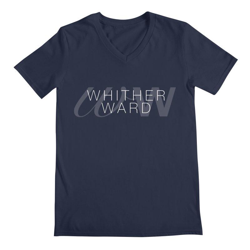 WW + Words (white) Men's Regular V-Neck by whitherward's Artist Shop