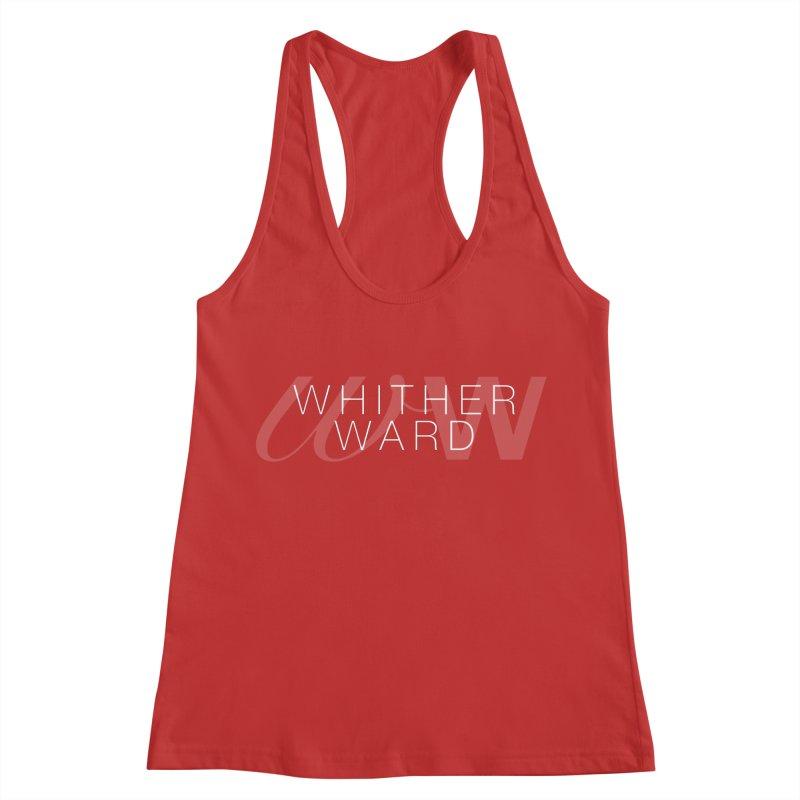 WW + Words (white) Women's Racerback Tank by whitherward's Artist Shop