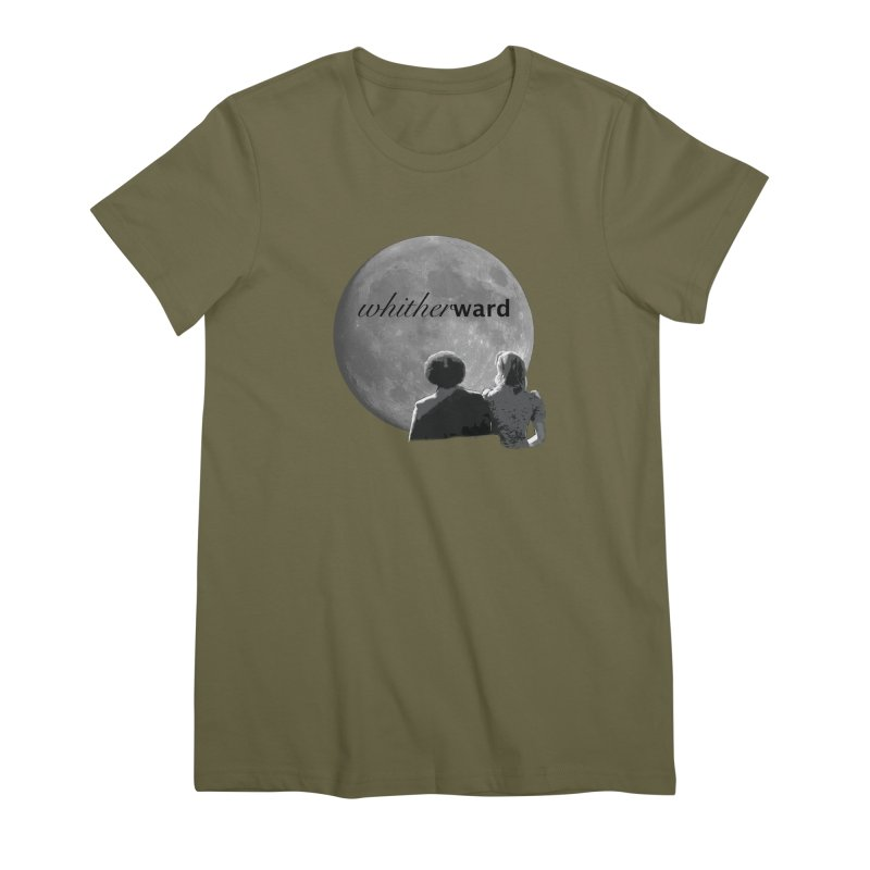WW Moon Women's Premium T-Shirt by whitherward's Artist Shop