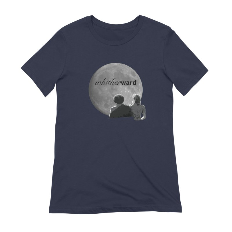 WW Moon Women's Extra Soft T-Shirt by whitherward's Artist Shop