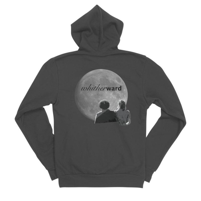WW Moon Men's Sponge Fleece Zip-Up Hoody by whitherward's Artist Shop