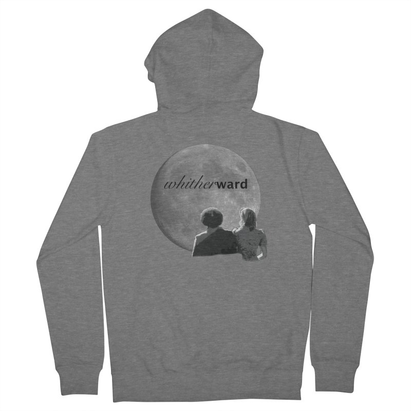 WW Moon Women's French Terry Zip-Up Hoody by whitherward's Artist Shop