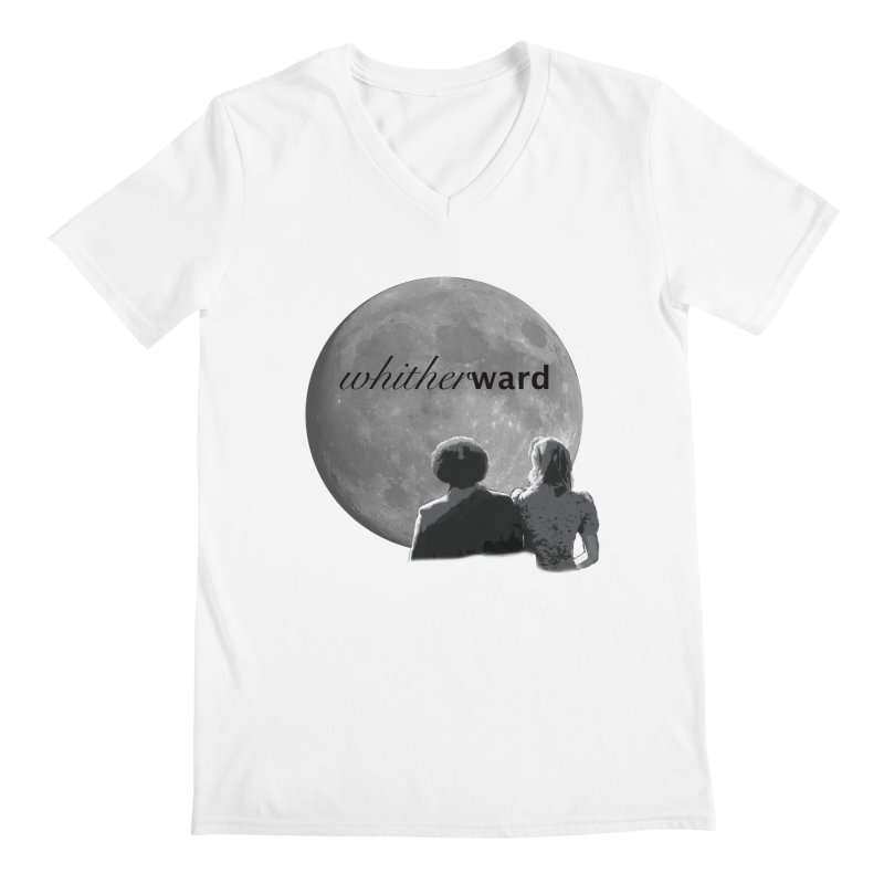 WW Moon Men's V-Neck by whitherward's Artist Shop