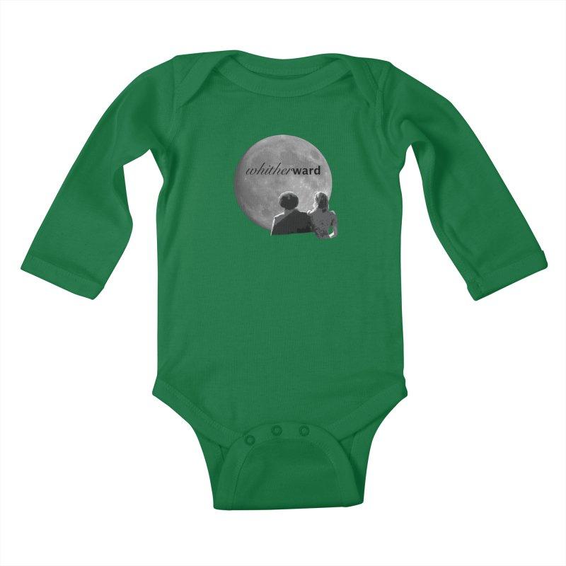 WW Moon Kids Baby Longsleeve Bodysuit by whitherward's Artist Shop