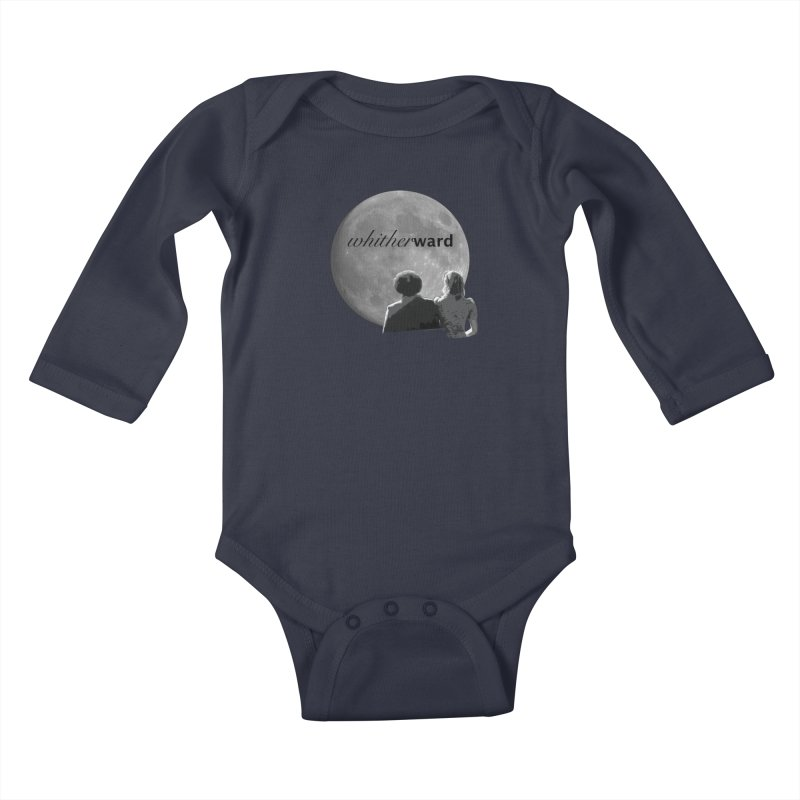 WW Moon Kids Baby Longsleeve Bodysuit by whitherward's Artist Shop