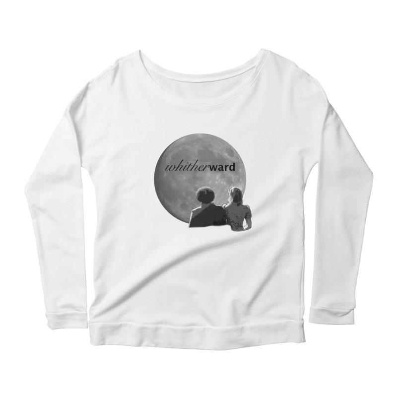 WW Moon Women's Scoop Neck Longsleeve T-Shirt by whitherward's Artist Shop