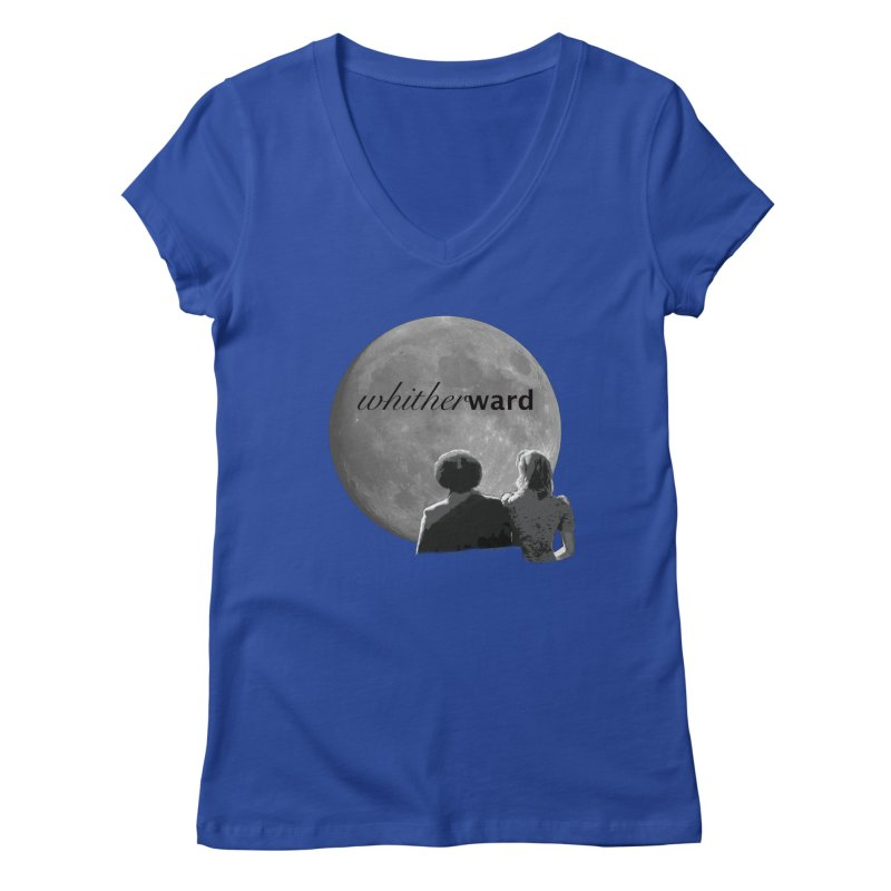 WW Moon Women's Regular V-Neck by whitherward's Artist Shop