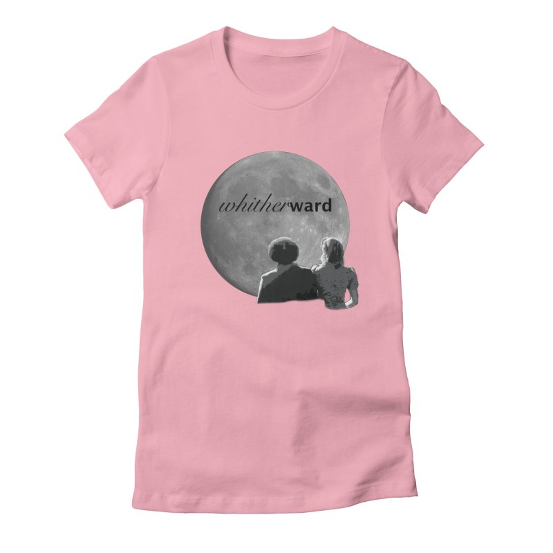 WW Moon Women's Fitted T-Shirt by whitherward's Artist Shop