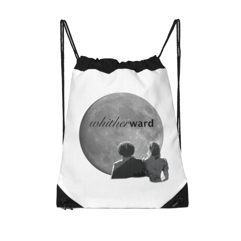 WW Moon Accessories Drawstring Bag Bag by whitherward's Artist Shop