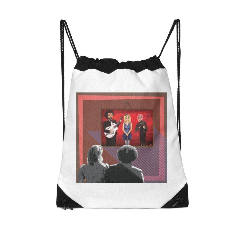 Human Album Accessories Drawstring Bag Bag by whitherward's Artist Shop