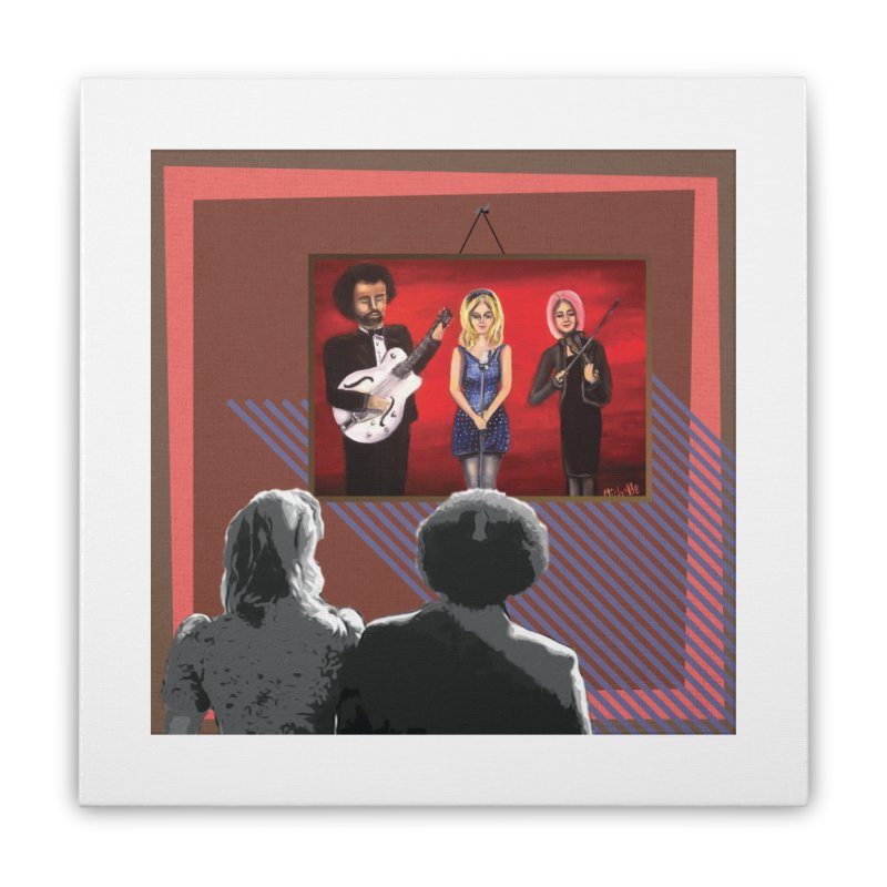 Human Album Home Stretched Canvas by whitherward's Artist Shop