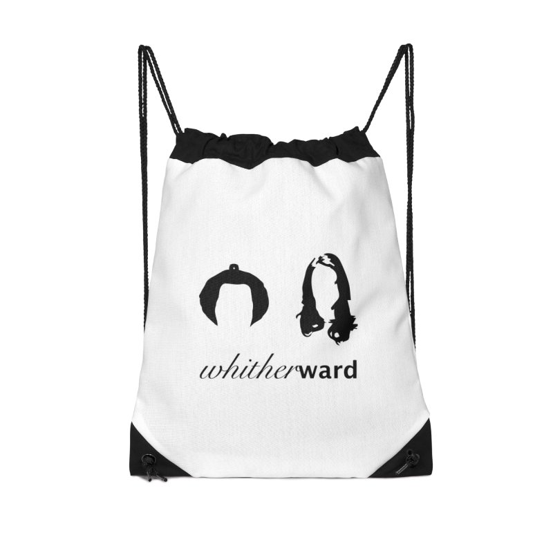 Silhouettes - Black Accessories Drawstring Bag Bag by whitherward's Artist Shop