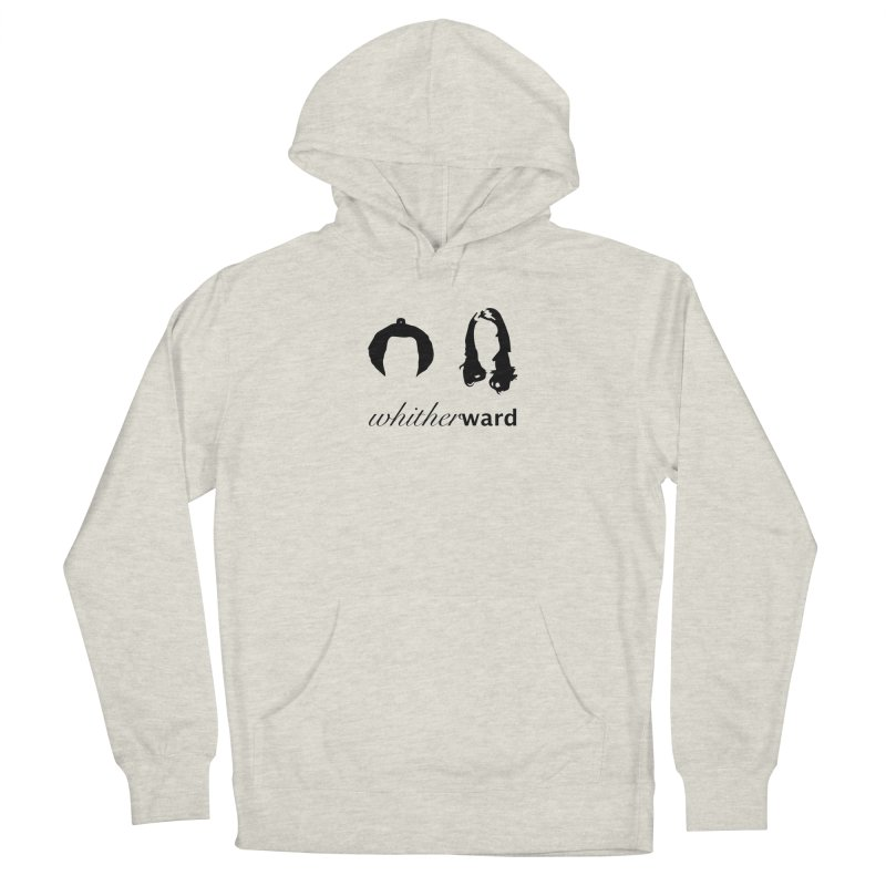 Silhouettes - Black Men's French Terry Pullover Hoody by whitherward's Artist Shop