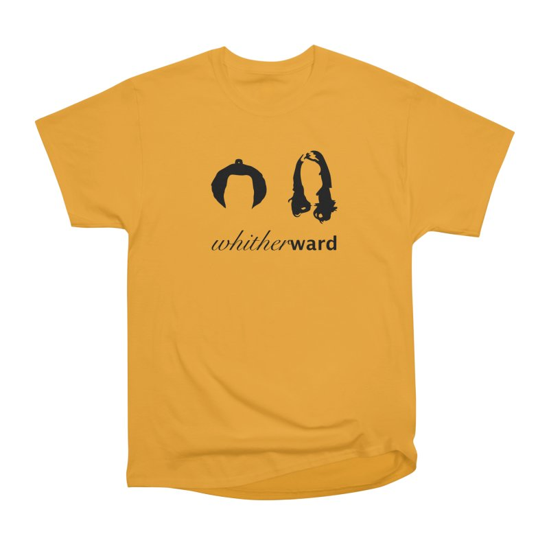 Silhouettes - Black Men's Heavyweight T-Shirt by whitherward's Artist Shop