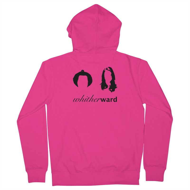 Silhouettes - Black Men's French Terry Zip-Up Hoody by whitherward's Artist Shop