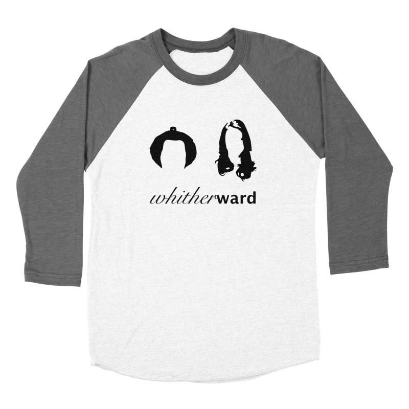 Silhouettes - Black Men's Baseball Triblend Longsleeve T-Shirt by whitherward's Artist Shop