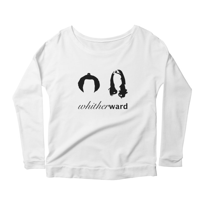 Silhouettes - Black Women's Scoop Neck Longsleeve T-Shirt by whitherward's Artist Shop