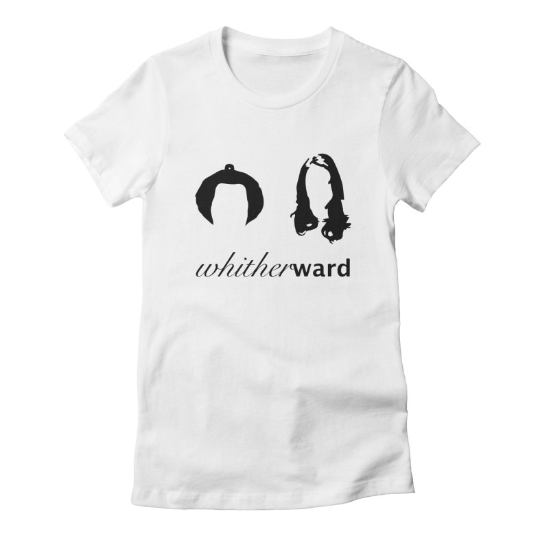 Silhouettes - Black Women's Fitted T-Shirt by whitherward's Artist Shop