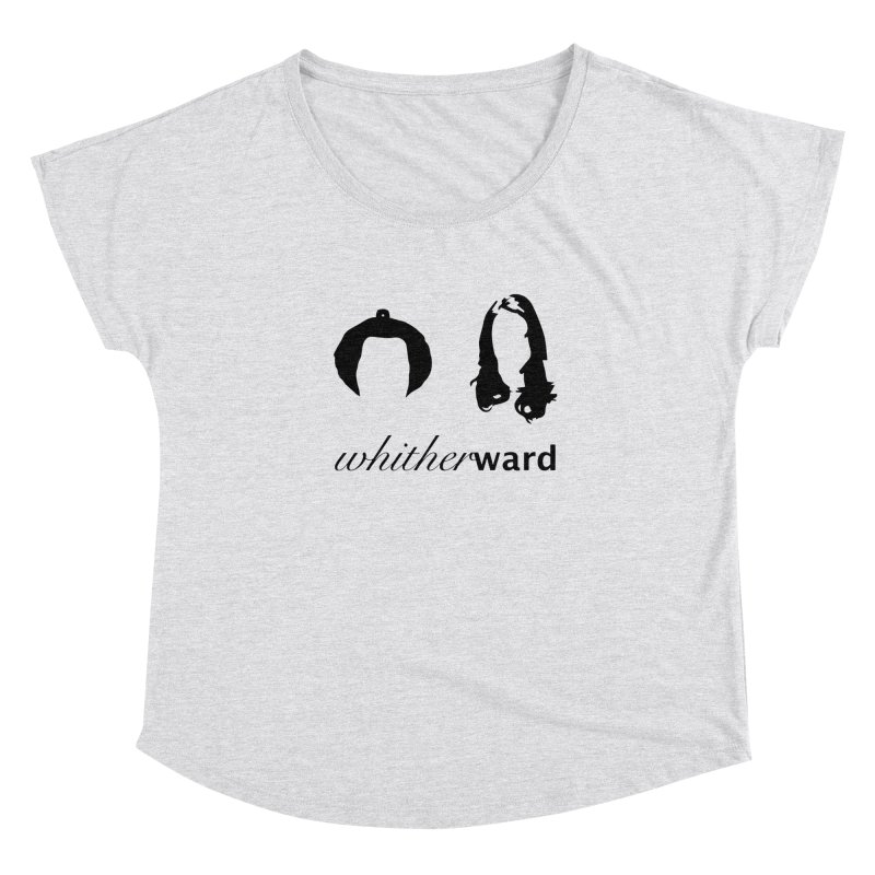Silhouettes - Black Women's Scoop Neck by whitherward's Artist Shop