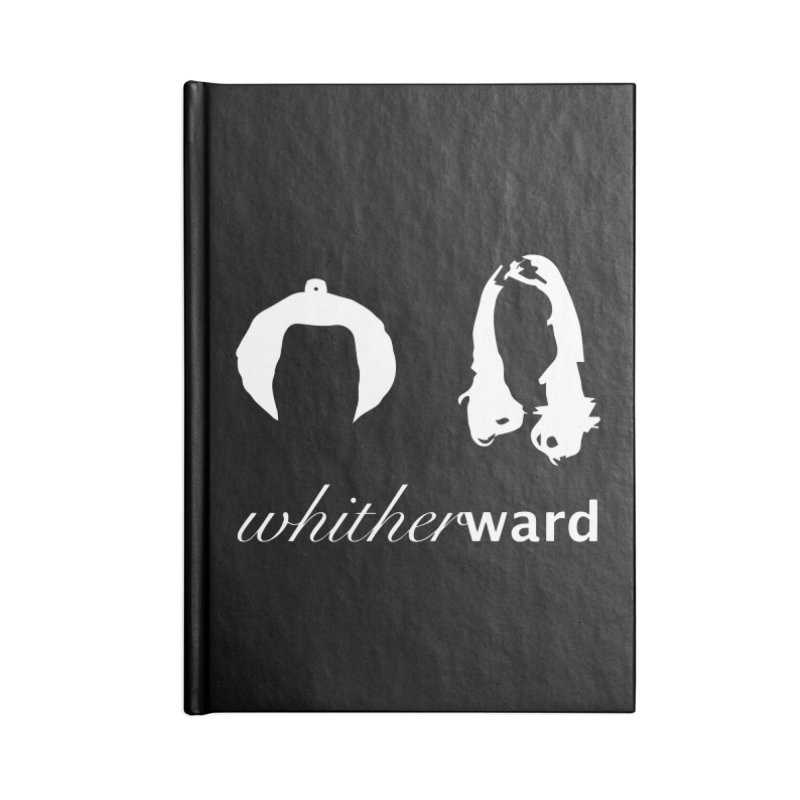 Silhouettes - White Accessories Lined Journal Notebook by whitherward's Artist Shop