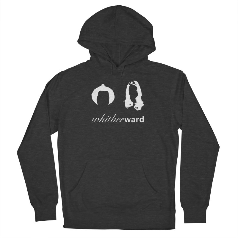 Silhouettes - White Men's French Terry Pullover Hoody by whitherward's Artist Shop