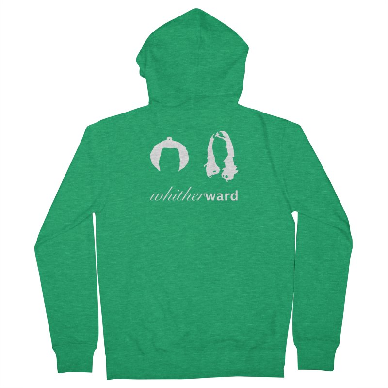 Silhouettes - White Men's French Terry Zip-Up Hoody by whitherward's Artist Shop