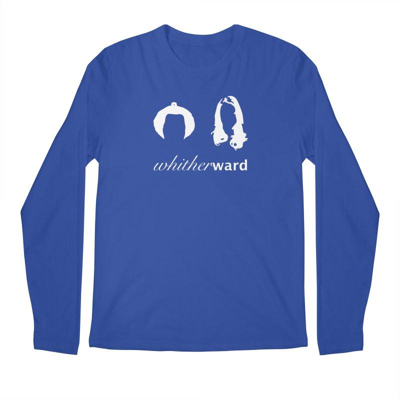 Silhouettes - White Men's Regular Longsleeve T-Shirt by whitherward's Artist Shop