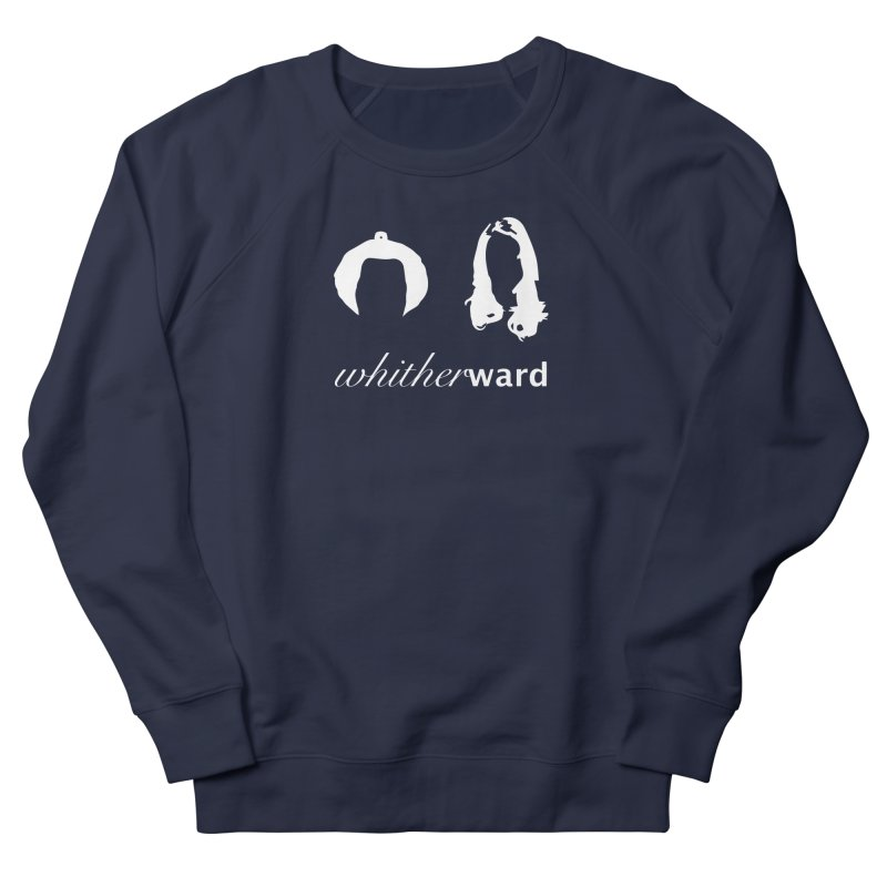 Silhouettes - White Women's French Terry Sweatshirt by whitherward's Artist Shop