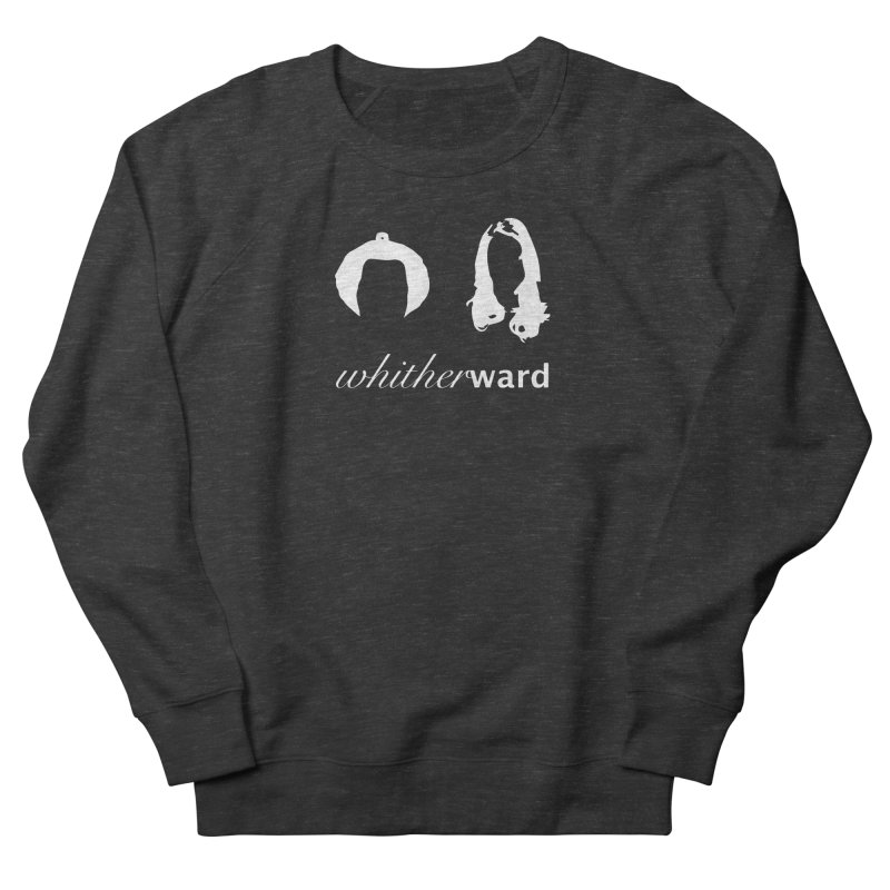Silhouettes - White Men's French Terry Sweatshirt by whitherward's Artist Shop