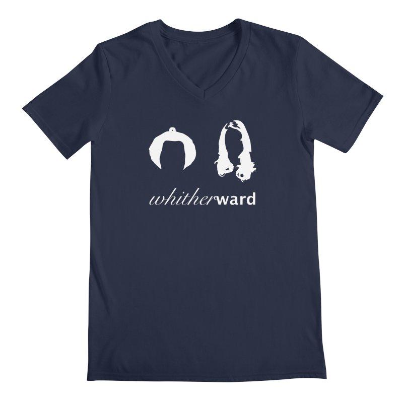 Silhouettes - White Men's Regular V-Neck by whitherward's Artist Shop