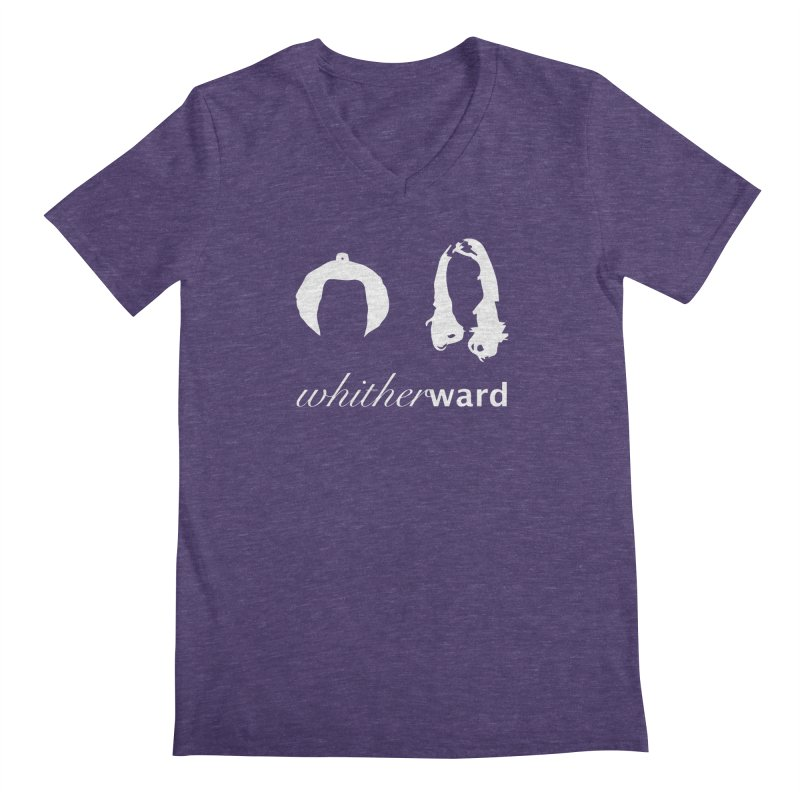 Silhouettes - White Men's Regular V-Neck by whitherward's Artist Shop
