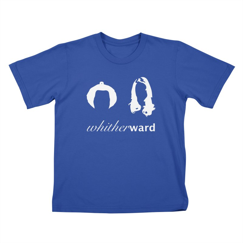 Silhouettes - White Kids T-Shirt by whitherward's Artist Shop
