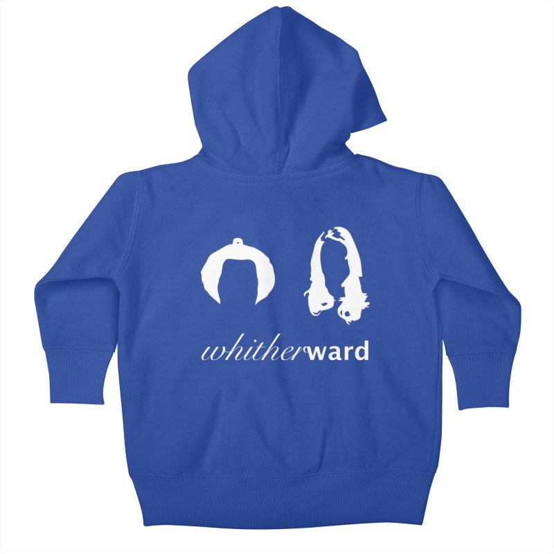Silhouettes - White Kids Baby Zip-Up Hoody by whitherward's Artist Shop