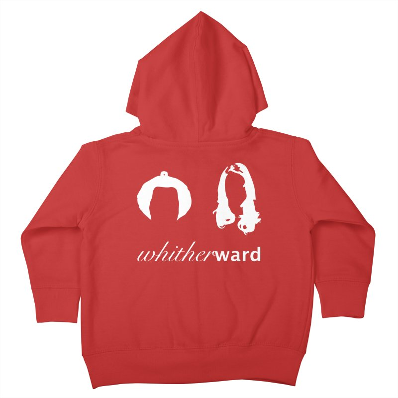 Silhouettes - White Kids Toddler Zip-Up Hoody by whitherward's Artist Shop