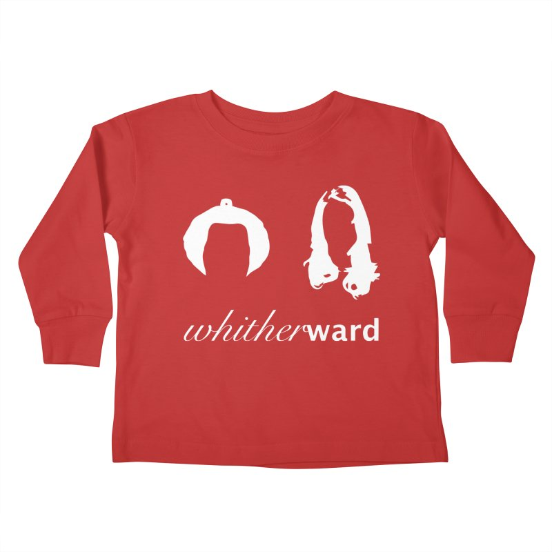 Silhouettes - White Kids Toddler Longsleeve T-Shirt by whitherward's Artist Shop