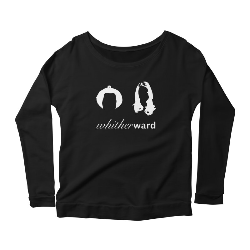 Silhouettes - White Women's Scoop Neck Longsleeve T-Shirt by whitherward's Artist Shop