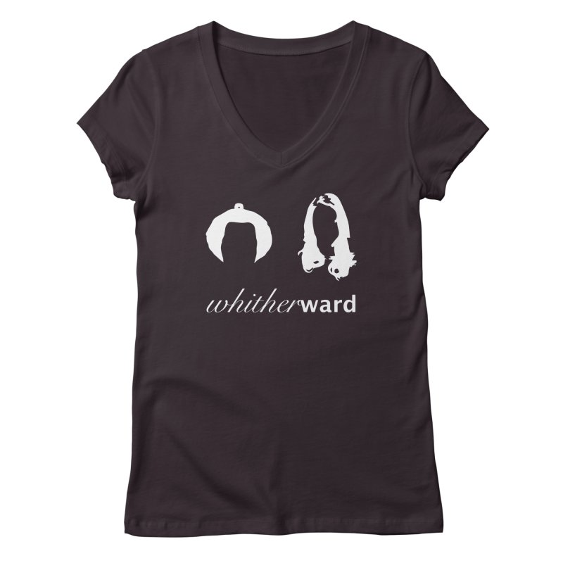 Silhouettes - White Women's Regular V-Neck by whitherward's Artist Shop