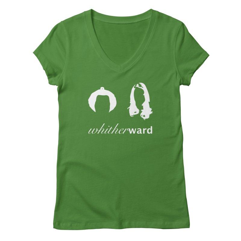 Silhouettes - White Women's Regular V-Neck by whitherward's Artist Shop