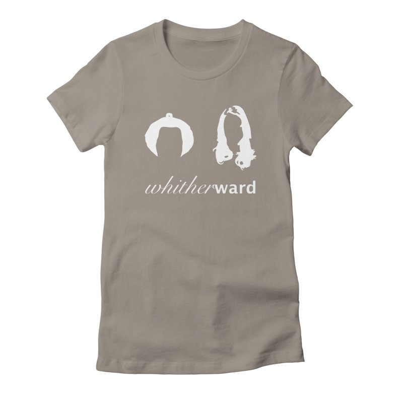 Silhouettes - White Women's Fitted T-Shirt by whitherward's Artist Shop