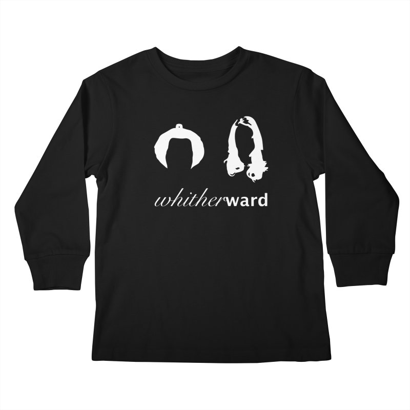 Silhouettes - White Kids Longsleeve T-Shirt by whitherward's Artist Shop