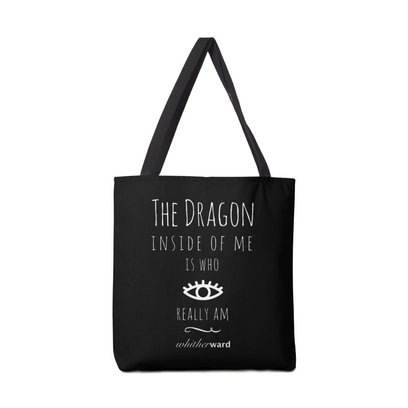 Dragon Lyrics - White Accessories Tote Bag Bag by whitherward's Artist Shop
