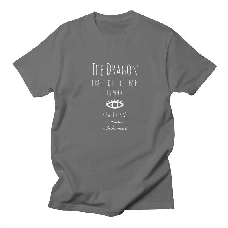 Dragon Lyrics - White Men's T-Shirt by whitherward's Artist Shop