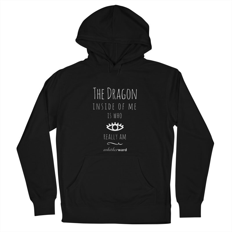 Dragon Lyrics - White Women's French Terry Pullover Hoody by whitherward's Artist Shop