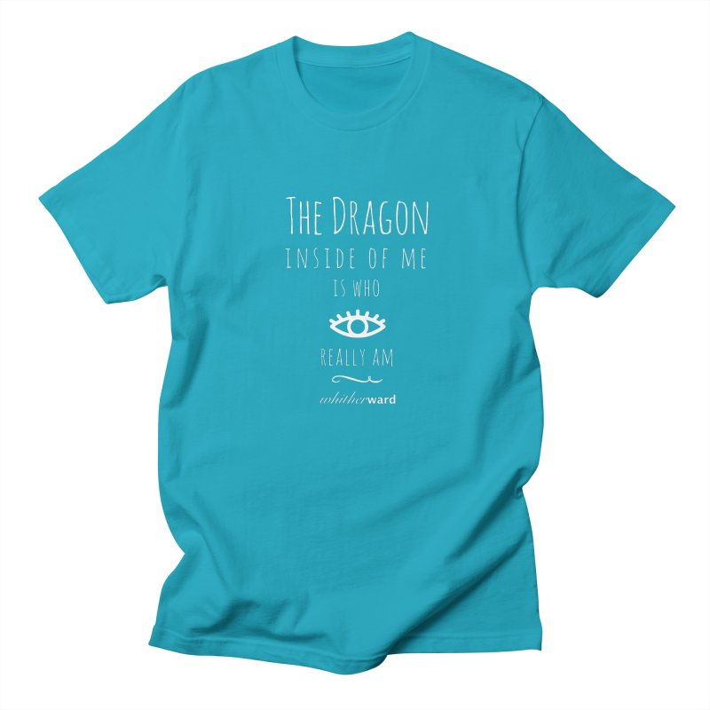 Dragon Lyrics - White Men's Regular T-Shirt by whitherward's Artist Shop