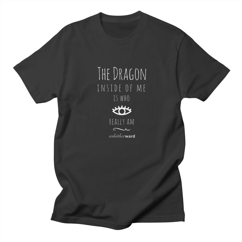 Dragon Lyrics - White Women's Regular Unisex T-Shirt by whitherward's Artist Shop