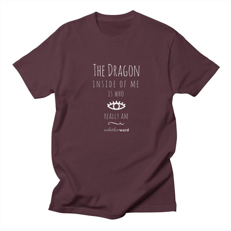 Dragon Lyrics - White Men's Regular T-Shirt by whitherward's Artist Shop