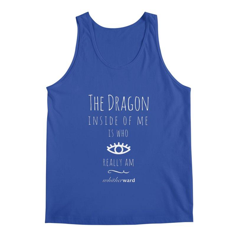 Dragon Lyrics - White Men's Tank by whitherward's Artist Shop