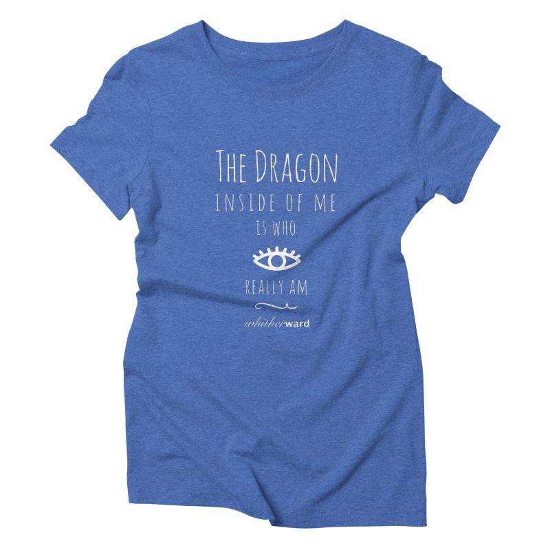 Dragon Lyrics - White Women's Triblend T-Shirt by whitherward's Artist Shop